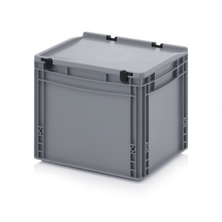 Plastični zaboj s pokrovom 400 x 300 x 320 mm
