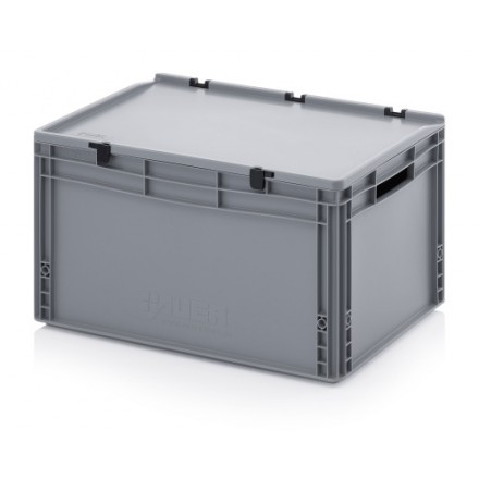 Plastični zaboj s pokrovom 600 x 400 x 320 mm