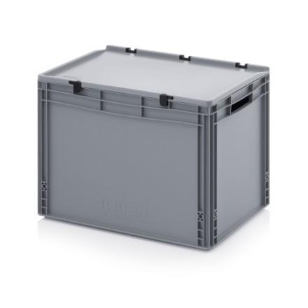 Plastični zaboj s pokrovom 600 x 400 x 420 mm