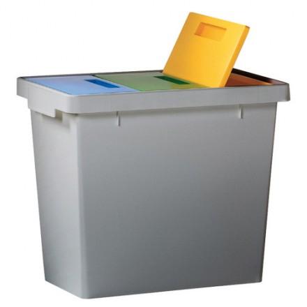 Koš za ločevanje odpadkov Polymax - tridelni