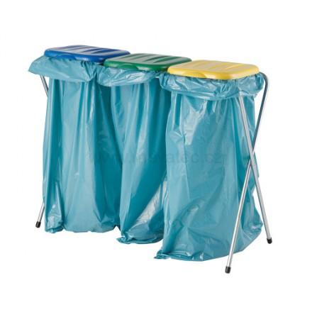 Stojalo za vreče s plastičnim pokrovom - trojček