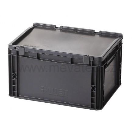 Meva ESD plastični zaboj s pokrovom 400x300x235