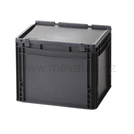 Meva ESD plastični zaboj s pokrovom 400x300x335