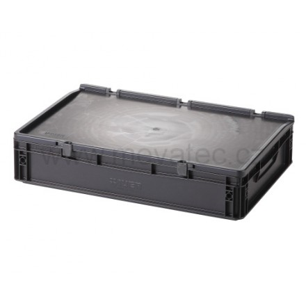Meva ESD plastični zaboj s pokrovom 600x400x135