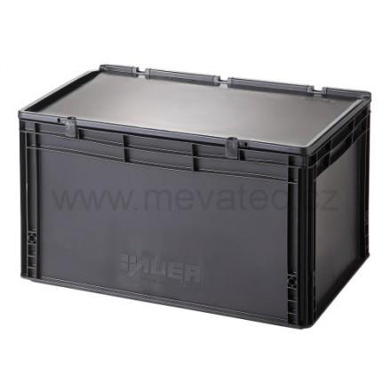 Meva ESD plastični zaboj s pokrovom 600x400x335