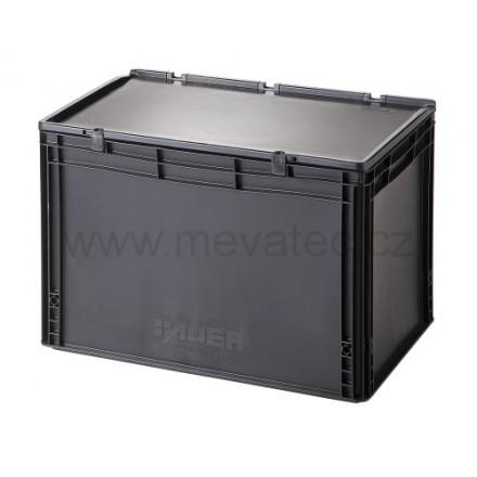 Meva ESD plastični zaboj s pokrovom 600x400x435