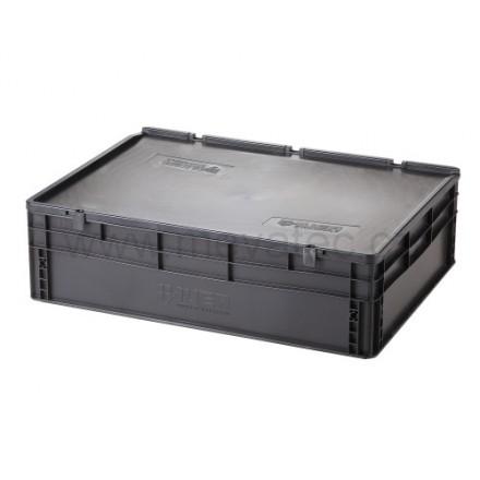 Meva ESD plastični zaboj s pokrovom 800x600x235