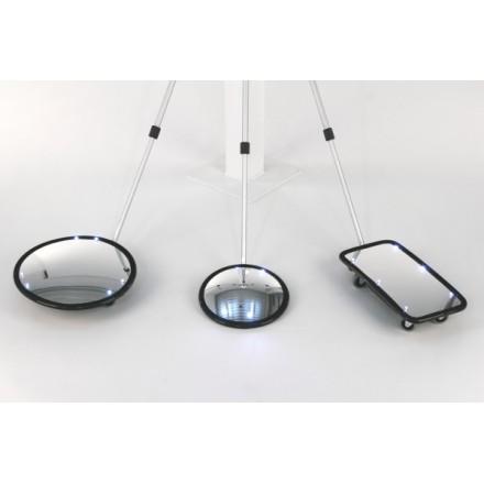 Kontrolno ogledalo Spexi okroglo z lučjo 25cm
