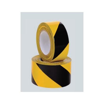 Set rumeno/črnih talnih označevalnih trakov 75mm - 5 kos