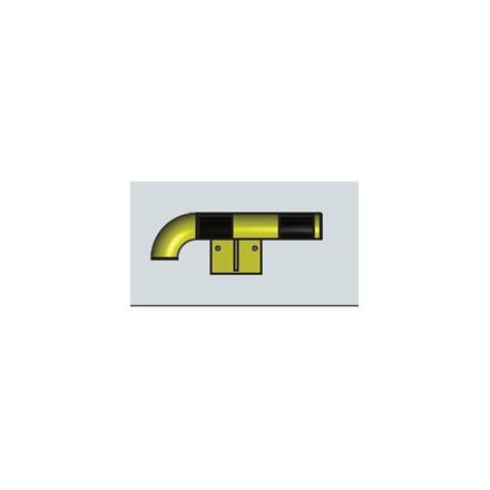 Modularni sistem za zaščito sten – zunanji kot v levo 500 mm - notranji