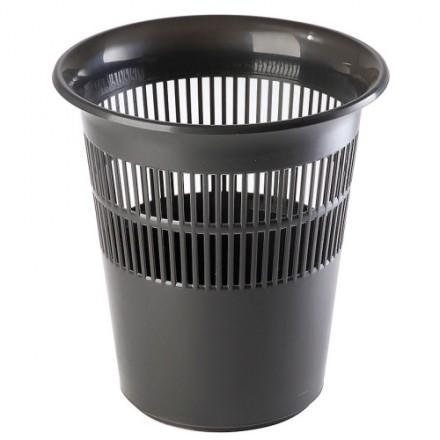 Pisarniški plastični koš 11L črn