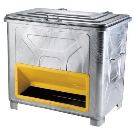 Kovinski zabojnik za posip