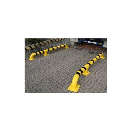 Kovinski zaščitni lok za nakladalno ploščad, rumena/črna, montaža na tla