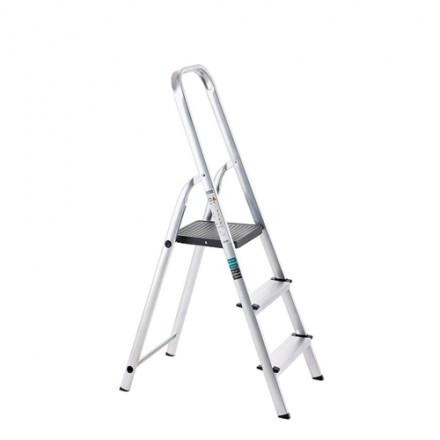 Prostostoječa aluminijasta lestev Hobby - delovna višina 2,7 m