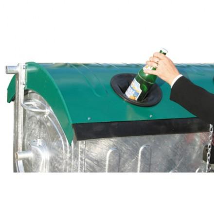 Vroče cinkan zabojnik 1100L - za steklo