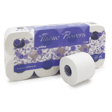 WC papir Tissue Flowers 72 rolic