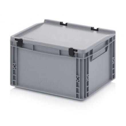 Plastični zaboj s pokrovom 400 x 300 x 220 mm