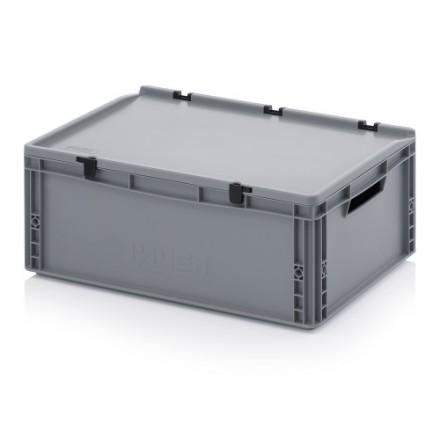 Plastični zaboj s pokrovom 600 x 400 x 220 mm
