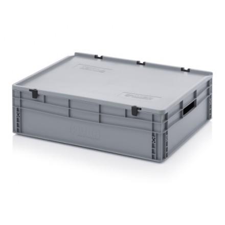 Plastični zaboj s pokrovom 800 x 600 x 220 mm