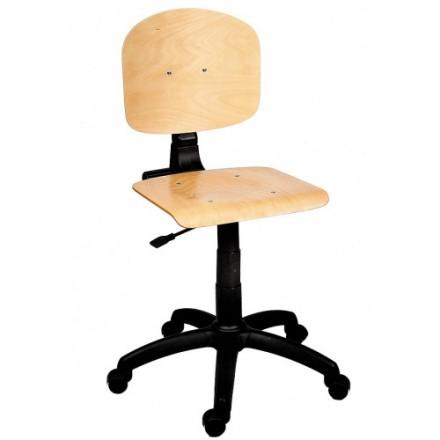 Leseni delovni stol z naslonom