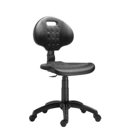 Poliuretanski delovni stol z naslonom in kolesi