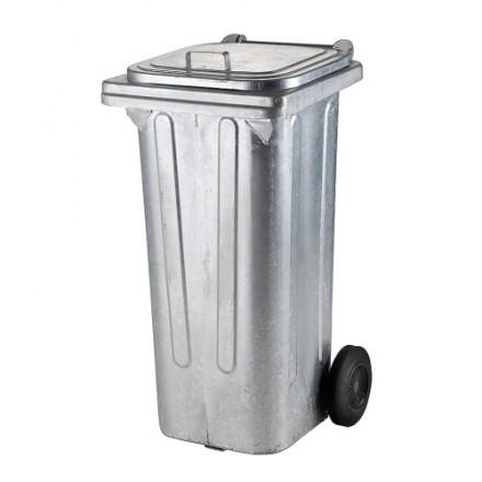Kovinski zabojnik za odpadke 120L