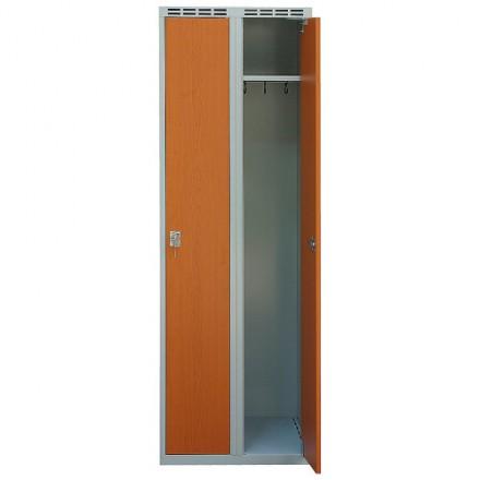 Garderobna omara 600 mm z vrati iz laminata 2/1