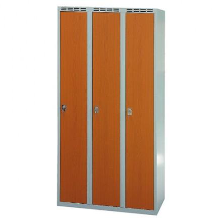 Garderobna omara 600 mm z vrati iz laminata Trokrilna