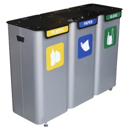 Sistem za ločevanje odpadkov z tremi prekati 3 x 70