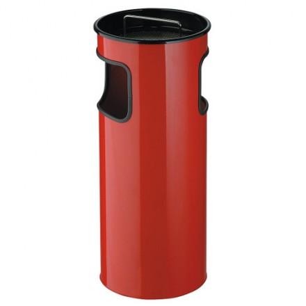 Koš s pepelnikom 50L Rdeč