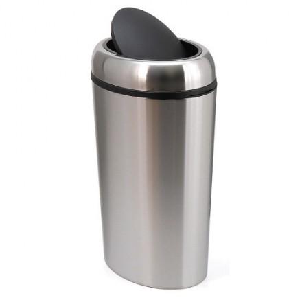 Ovalni Kromirani koš za odpadke 40L