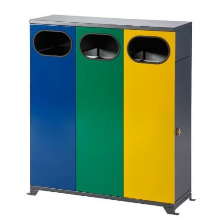 Maxi Zunanji koš za ločevanje odpadkov 3 x 40L