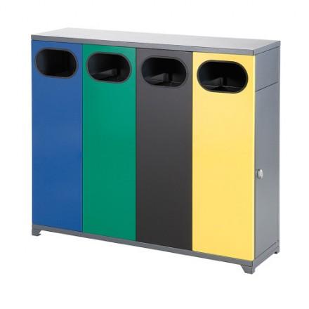 Maxi Zunanji koš za ločevanje odpadkov 4 x 40L