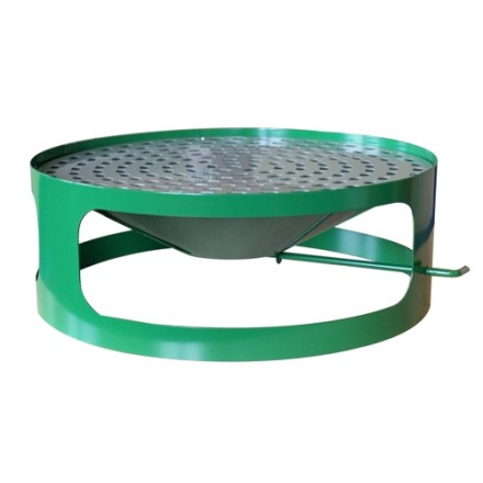 """Pokrov s pepelnikom za betonski koš """"Optimal"""" Zelen"""