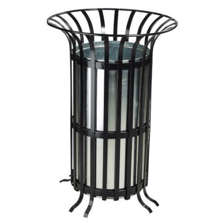 Kovinski koš za odpadke z cinkanim vložkom 70L