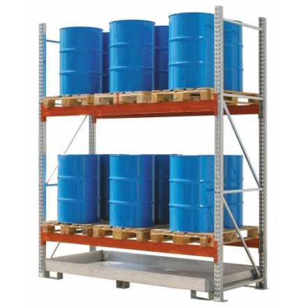 Regal za vzdolžno skladiščenje palet 2700 x 1100 x 3300 mm