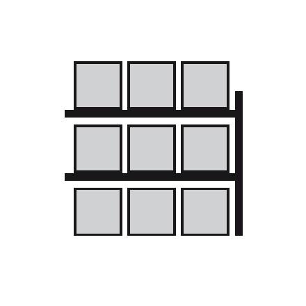 Nadgradnja regala za vzdolžno skladiščenje palet 2700 x 1100 x 3300 mm