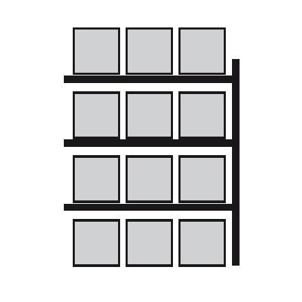 Nadgradnja regala za vzdolžno skladiščenje palet 2700 x 1100 x 4400 mm
