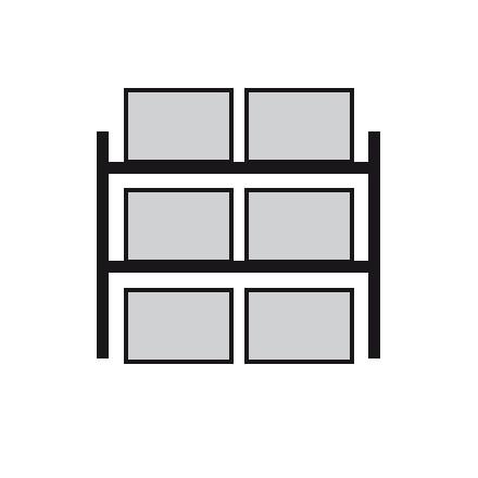 Regal za prečno skladiščenje palet 2700 x 800 x 3300 mm