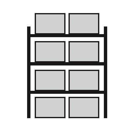 Regal za prečno skladiščenje palet 2700 x 800 x 4400 mm