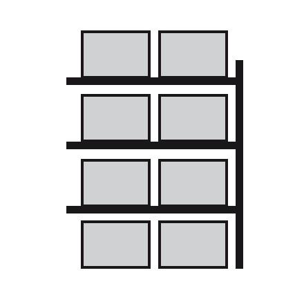 Nadgradnja regala za prečno skladiščenje palet 2700 x 800 x 4400 mm