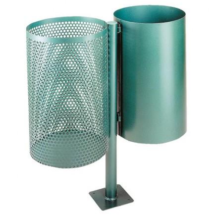Dvojni zunaji kovinski koš - Zelen