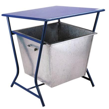 Košara z strešico za odpadke - Modra