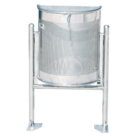 Polkrožna vrtljiva košara za odpadke - Inox