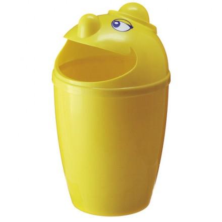 """Zunanji koš za odpadke """" Funny"""" Rumen"""