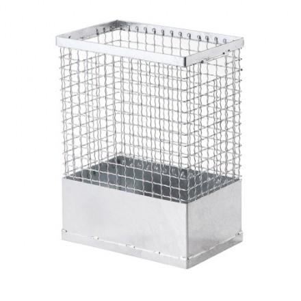Pravokotna žična košara za odpadke 55L