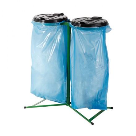 """Stojalo za vreče z plastičnim pokrovom """"Duo"""""""