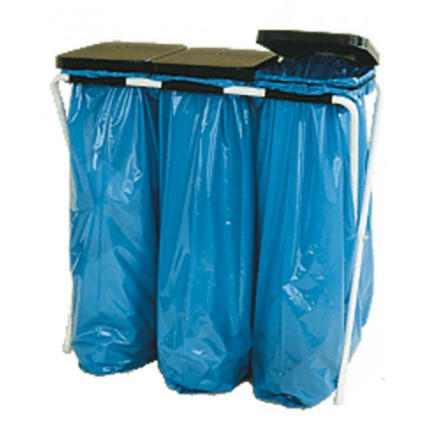"Stojalo za vreče z plastičnim pokrovom ""Trio"""