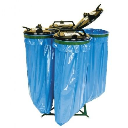 """Stojalo za vreče z plastičnim pokrovom """"Quatro"""""""