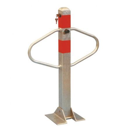 Zložljiv zaporni stebriček z rameni - srebrn